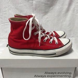 Unisex Red hightop Converse